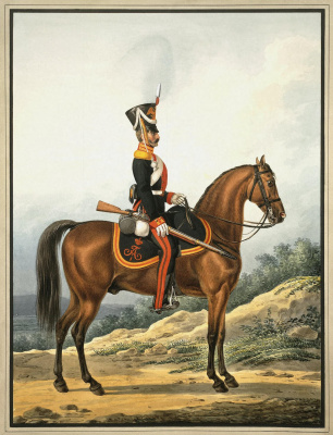 Alexander Ivanovich Sauerweid. Ordinary life guards Dragoon regiment