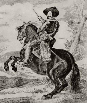 Франсиско Гойя. Конный портрет графа Оливареса, с картины Веласкеса