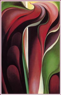 Джорджия О'Киф. Аризема трёхлистная. Абстракция №5
