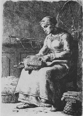 Jean-François Millet. Carder of wool