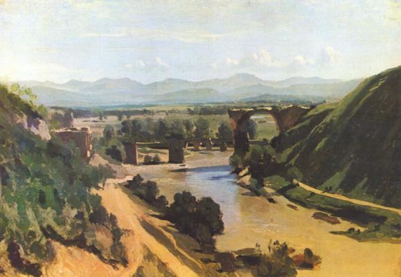Camille Corot. Bridge to Narni