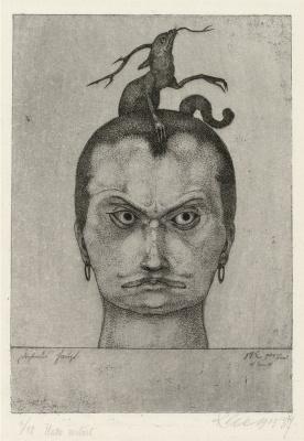 Paul Klee. Menacing Head