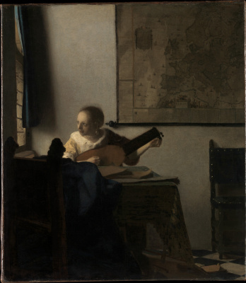 Jan Vermeer. Woman with a lute