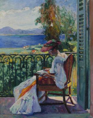 Анри Шарль Манген. Жанна на балконе, вилла Демье
