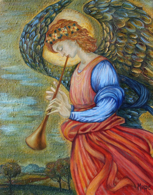 Anastasia Mirra. Angel trumpeting