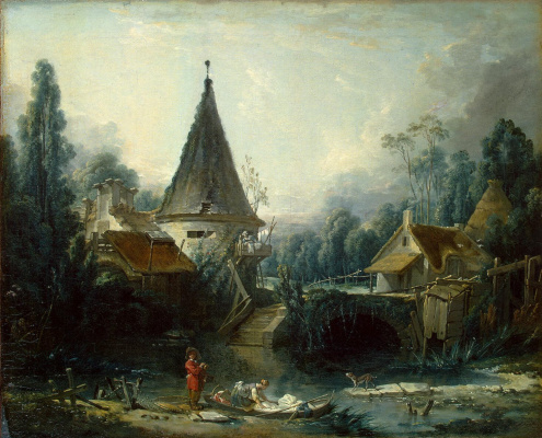 Francois Boucher. Landscape in vicinity of Beauvais