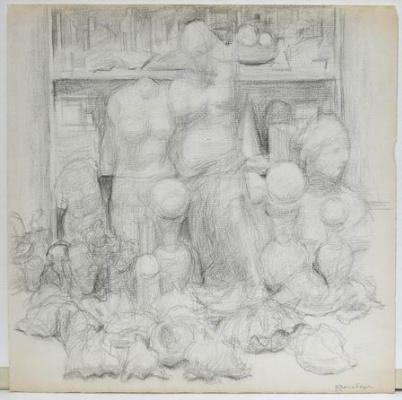 Vladimir Grigorievich Weisberg. Plasters in the workshop