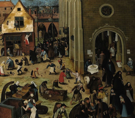 Peter Brueghel The Younger. Battle of Lent and carnival. Fragment III