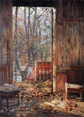 Isaac Brodsky. Fallen leaves. 1929