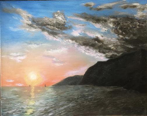 Mihails (Mikhail) Valentinovich Ribenko (Rybenko). Sunset on the south coast of Crete