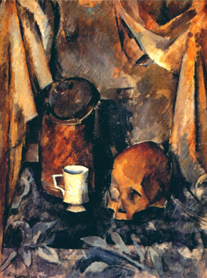 Alexander Alexandrovich Osmyorkin. Still life with a skull. State Russian Museum