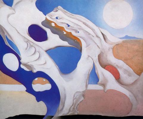 Georgia O'Keeffe. The pelvic bone and moon