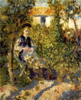 Пьер Огюст Ренуар. Нини в саду
