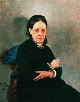 Ilya Efimovich Repin. A portrait of social activist N. V. Stasova
