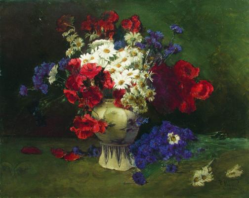 Константин Егорович Маковский. Цветы