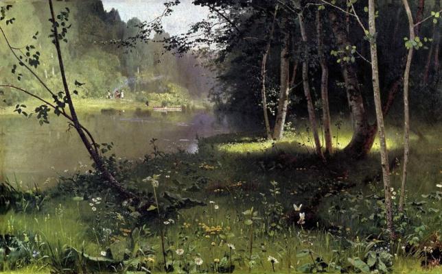 Николай Никанорович Дубовской. Лесная река