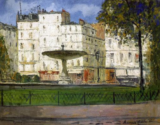 Морис Утрилло. Площадь Пигаль. Париж
