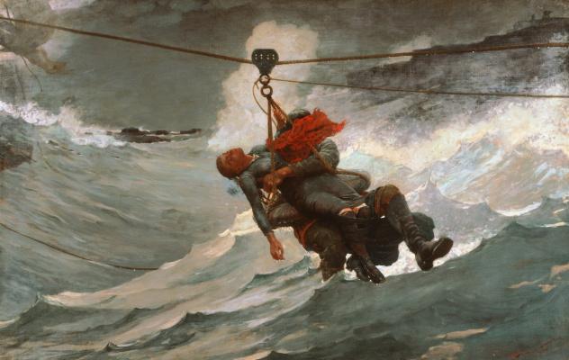 Winslow Homer. Life line