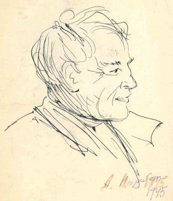 Amshey Markovic Nuremberg. Self-portrait