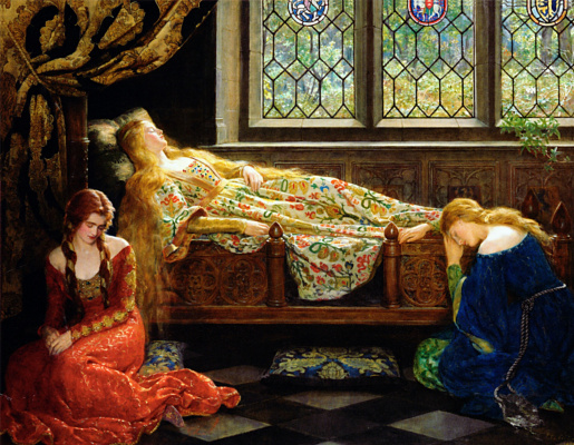 Джон Кольер. Спящая красавица 1921