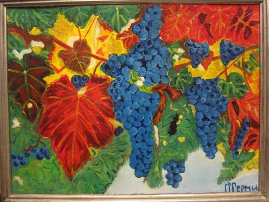 Olga Hermiseeva. Autumn in the vineyard
