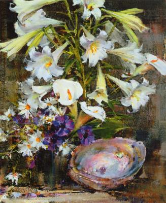 Nikolay Feshin. Lilies with sink