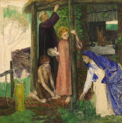 Dante Gabriel Rossetti. Easter in the Holy Family: gathering bitter herbs