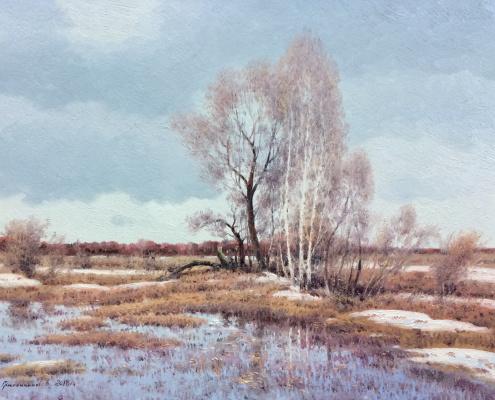 Vasily Ivanovich Gribennikov. Spring cloudy day