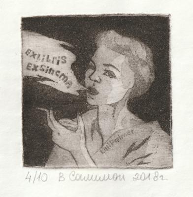 "Valeria Evgenievna Salimon. ""Exlibris Lily Palmer"""