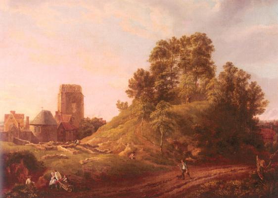 Майкл Анджело Рукер. Вид на замок Хилл. Оксфорд