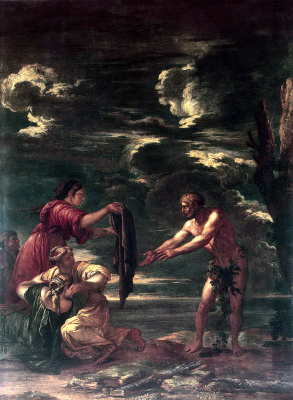 Salvatore Rose. Odysseus and Nausicaa