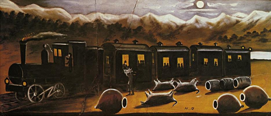 Niko Pirosmani (Pirosmanashvili). Kakhetian train