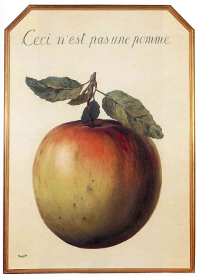 Рене Магритт. Это не яблоко