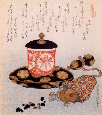 Katsushika Hokusai. A Pot of Tea and Keys