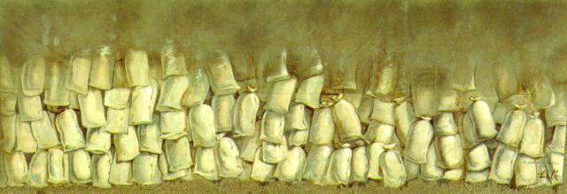 """Salvador Dali. Sketch of scenery for the play """"Los Sacos Del Molinero"""""""