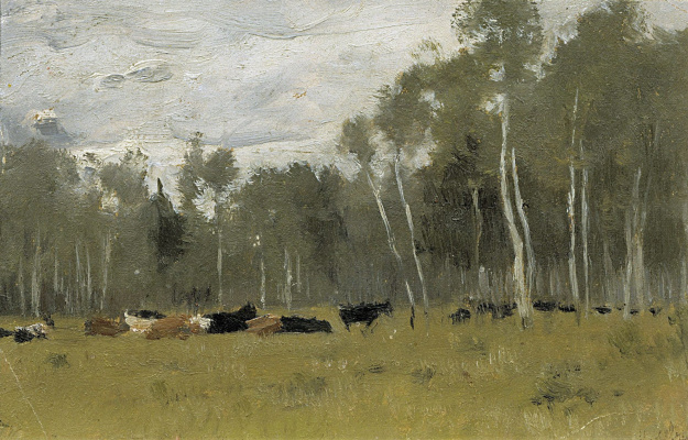 Isaac Levitan. The herd