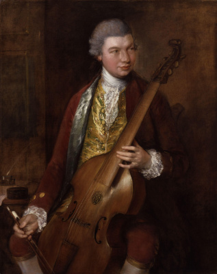 Thomas Gainsborough. Portrait of the composer Carl Friedrich Abel with his viola da Gamba