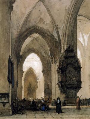 Йоханнес Босбум. Интерьер церкви в Трире