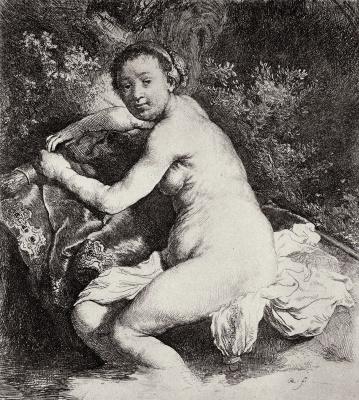 Rembrandt Harmenszoon van Rijn. Bathing Diana
