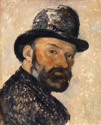 Self-portrait in bowler hat