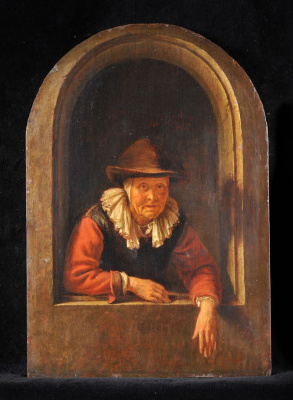 Gerrit (Gerard) Dow. The old woman in the window