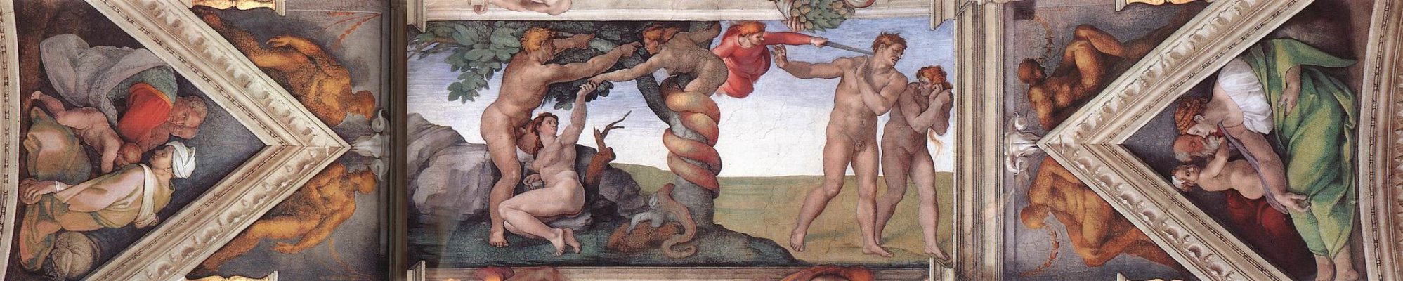 Микеланджело Буонарроти. Потолок Сикстинской капеллы. Фрагмент