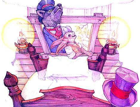 Дон Дэйли. Иллюстрация к сказке Братец Кролик 016