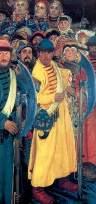 Андрей Петрович Рябушкин. Едут. Народ московский во время въезда иностранного посольства в Москву в конце 17 века