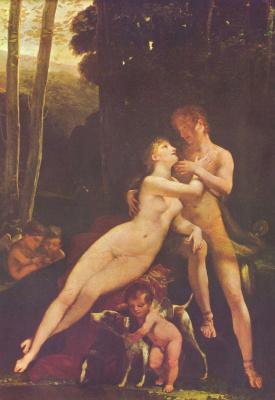 Pierre-Paul Prudhon. Venus and Adonis