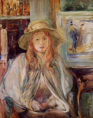 Berthe Morisot. Girl in a straw hat