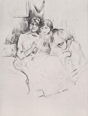Berthe Morisot. Drawing lesson