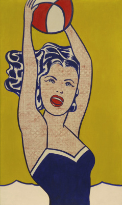 Roy Lichtenstein. The girl with the ball