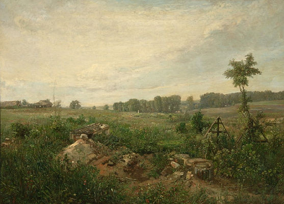 Fedor Ivanovich Yasnovsky. The cemetery in Mazilov near Moscow. The second half of the XIX century, the State Tretyakov Gallery, Moscow