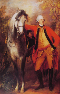 Thomas Gainsborough. Portrait of Edward Ligonier, 1 count Ligonier